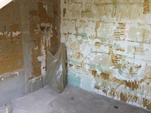 Sloopwerkzaamheden badkamers en toiletten